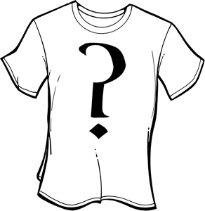 tshirt question mark