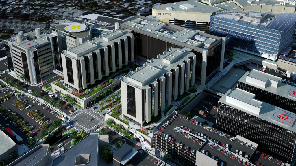 Cedars-Sinai Medical Center Arial View