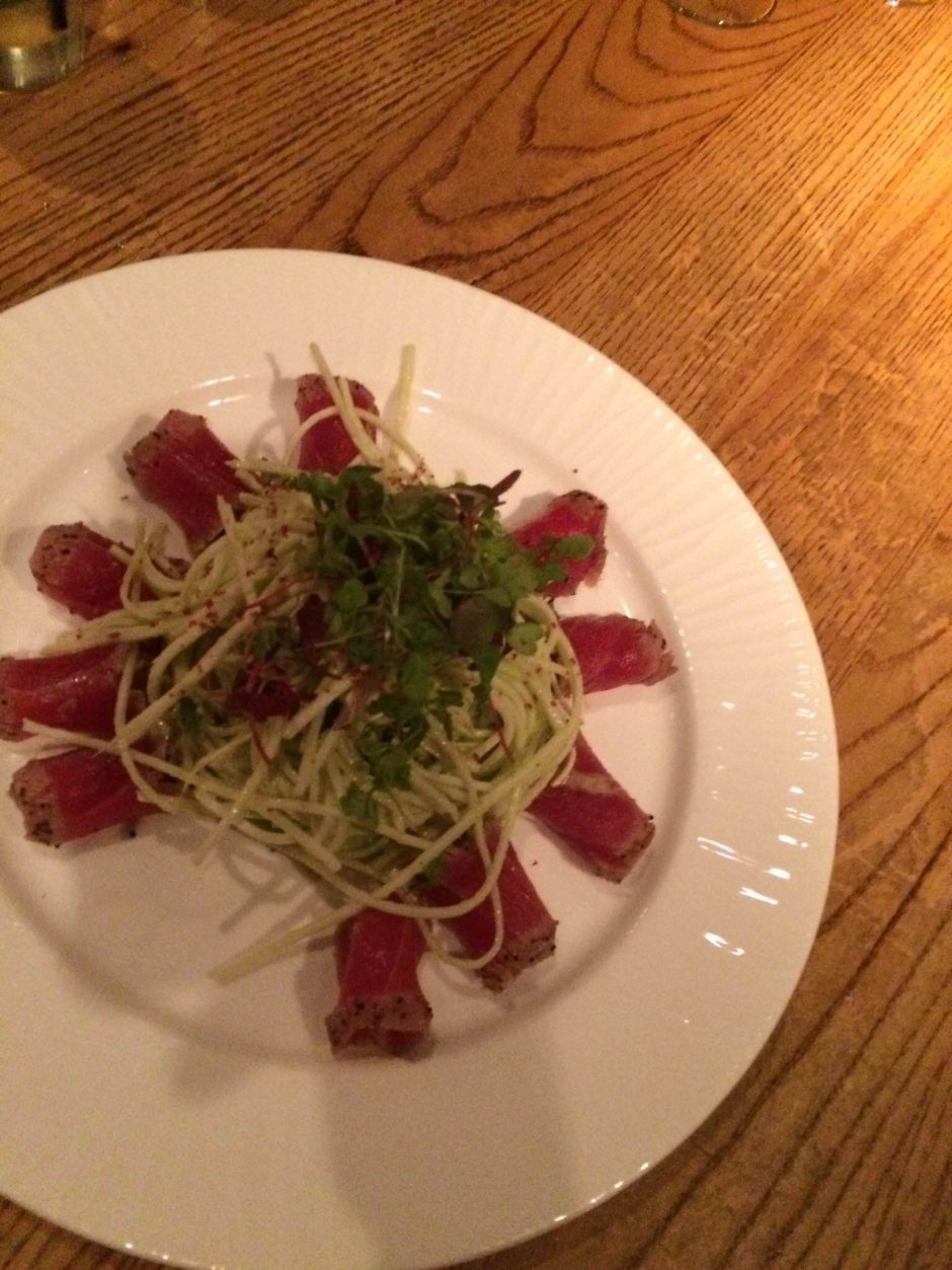 Seared Tuna Sashimi Hearts of Palm Salad